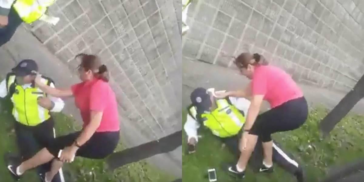Quito: En redes sociales circula video de mujer agrediendo a un Agente de Tránsito