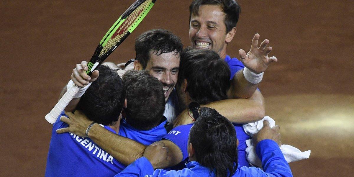Argentina y Colombia se enfrentarán en el repechaje del Grupo Mundial de la Copa Davis