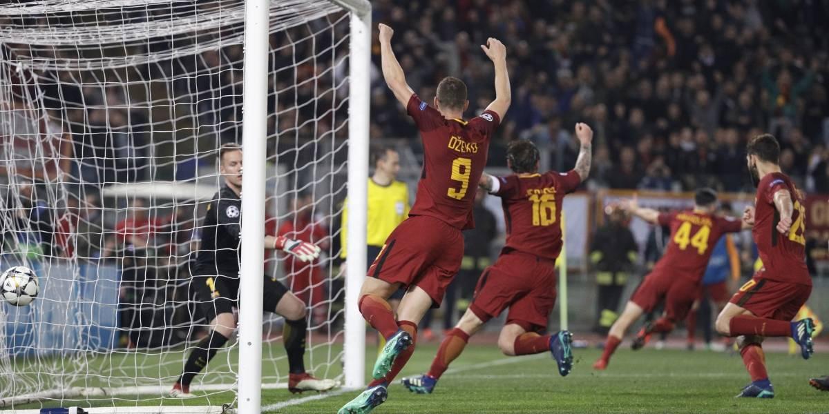 Roma le da una bofetada al mundo al eliminar a Barcelona de la Champions League