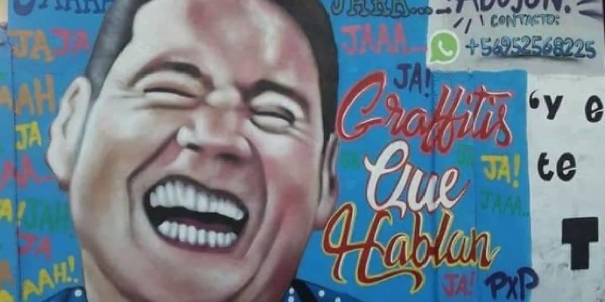 """""""Grafittis que hablan"""": el homenaje a Pancho Saavedra que la rompe en las redes sociales"""