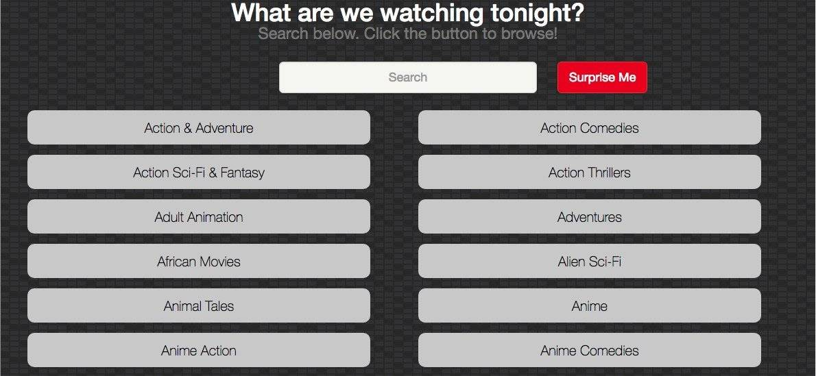 Netflix categorías