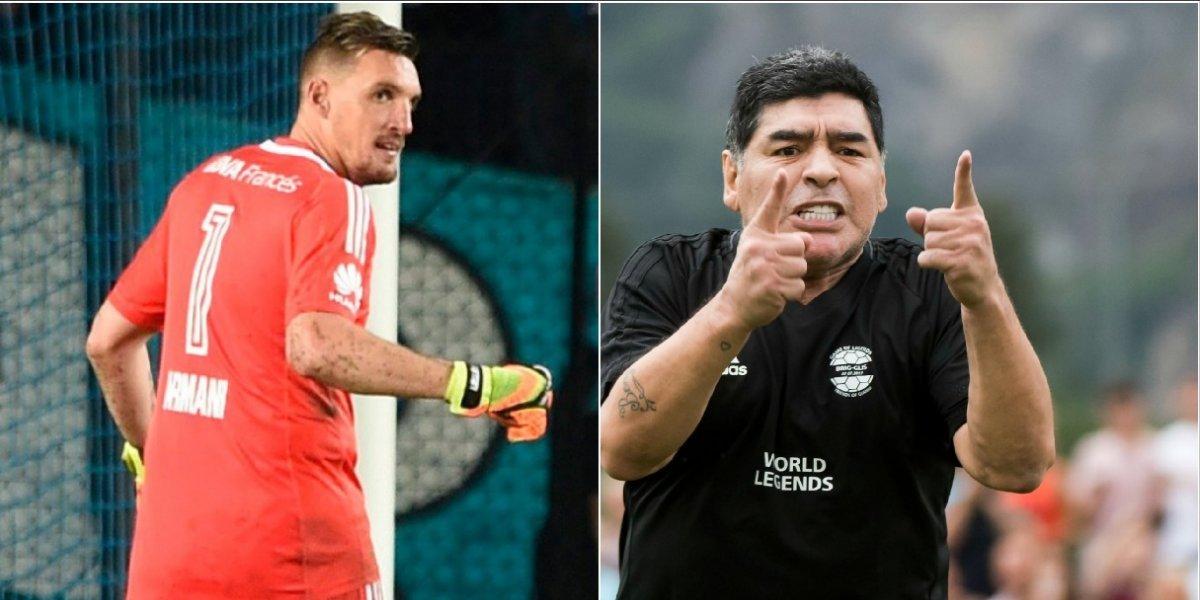 Maradona cargó contra Franco Armani, al que no lo considera extraordinario