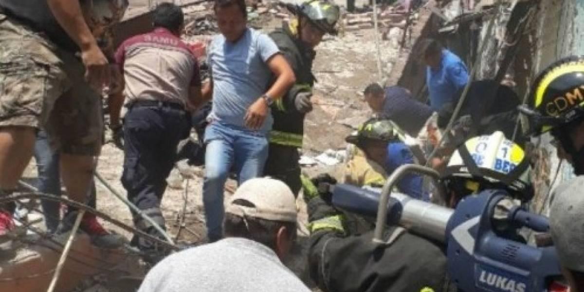 Explosión y derrumbe deja varios lesionados en Iztacalco