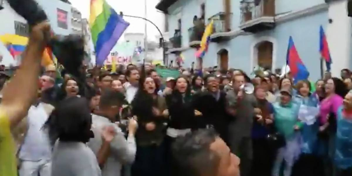 "El video de Gabriela Rivadeneira y Ricardo Patiño gritando: ""¡Lenín Moreno va a caer!"""