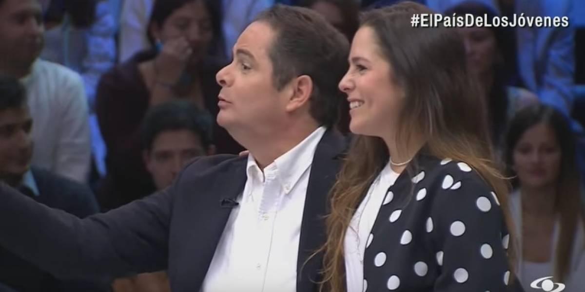 Vargas Lleras presentó a su hija en nuevo programa de Caracol