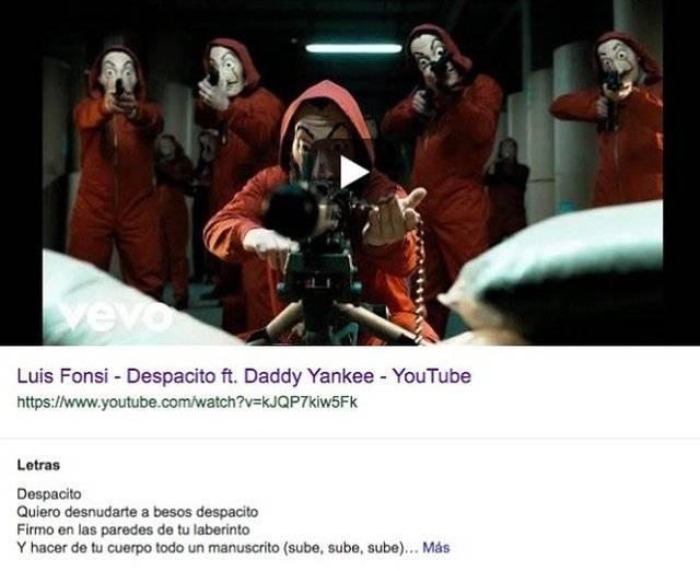 Esto apareció en el video