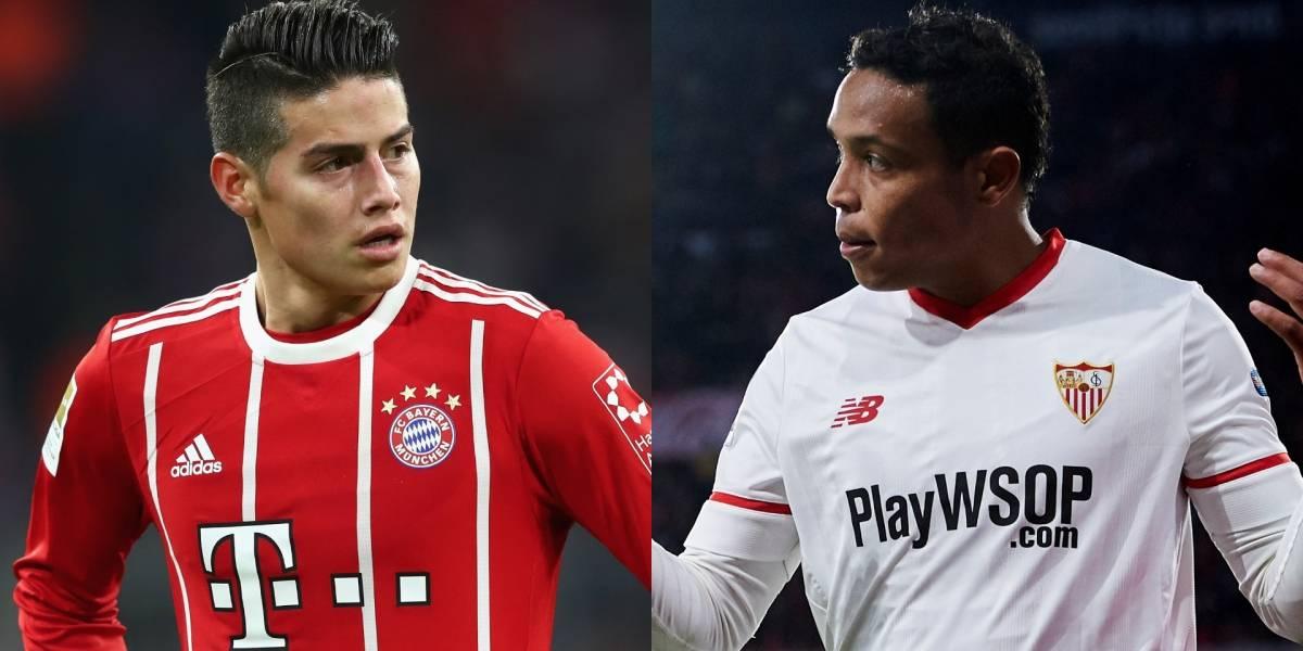 ¿James o Muriel? ¿Bayern o Sevilla? Un colombiano avanzará