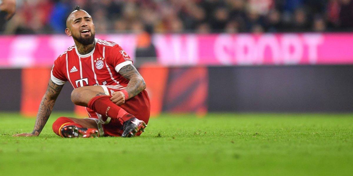 Vidal queda fuera de la Champions y recién volverá para enfrentar a Aránguiz en semis de la Copa Alemania