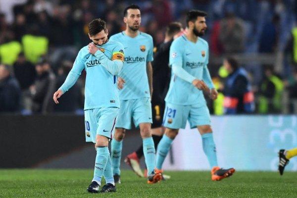 Barcelona no lo pasa bien tras caer por tercer año consecutivo en cuartos de Champions / imagen: Getty Images