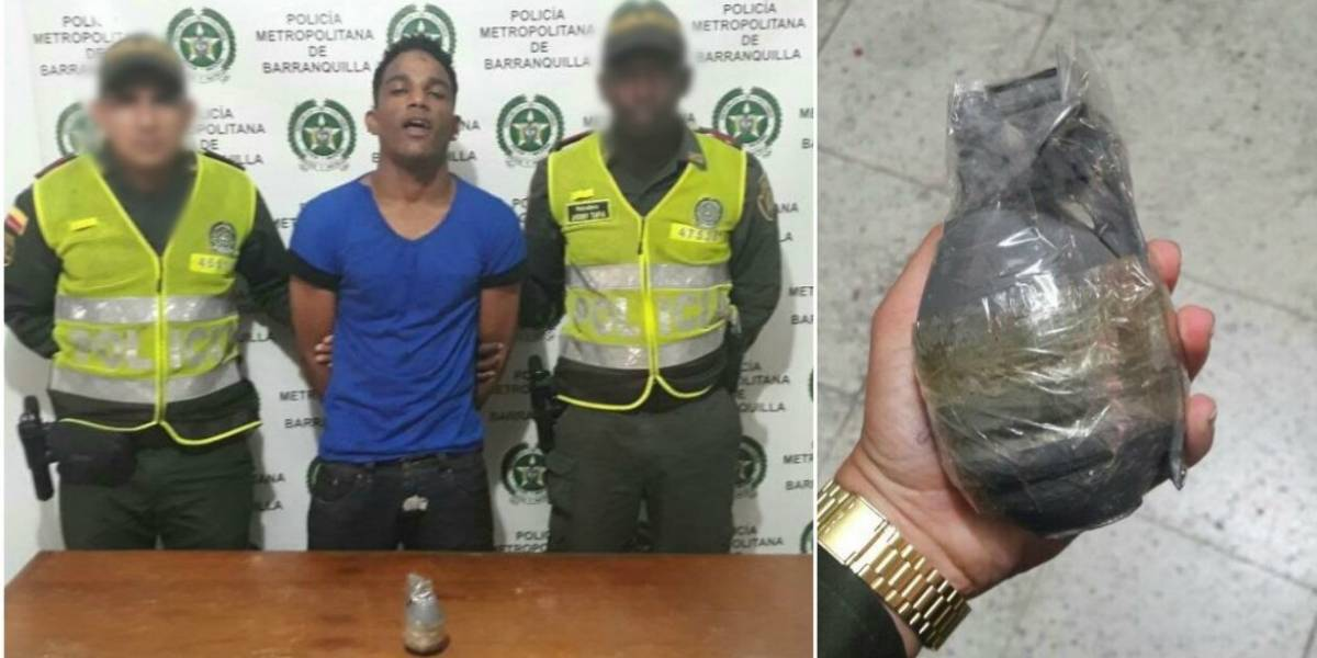 En video: Con una granada en la mano intimidó a los pasajeros de un bus para robarles
