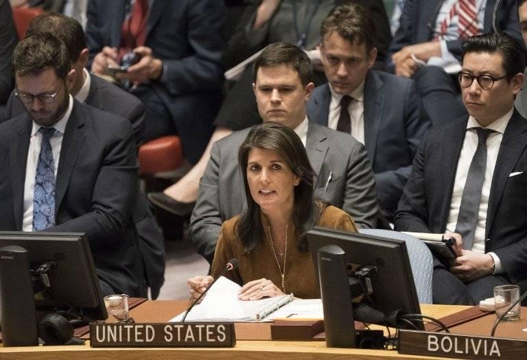 Nikki Haley, representante de Estados Unidos ante la ONU