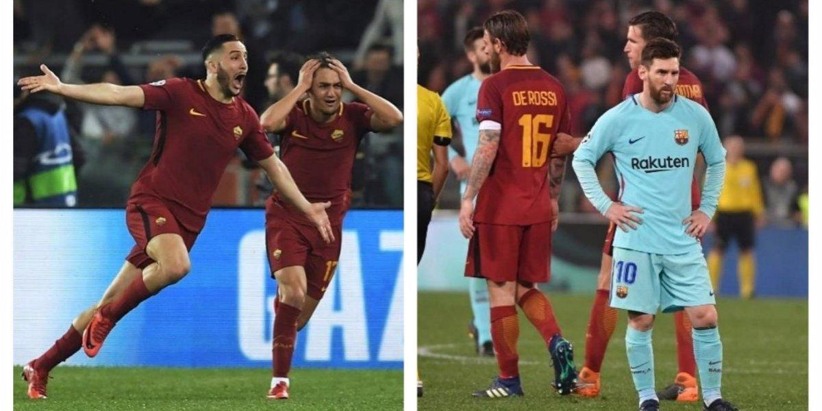La Roma elimina al Barcelona de la Champions y avanza a las semifinales