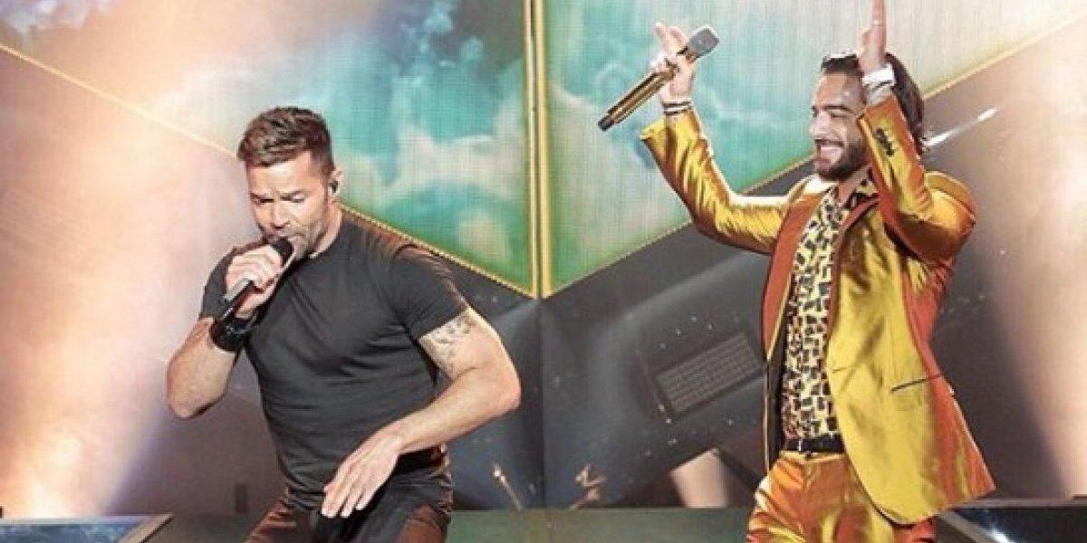 Maluma enloquece a sus fans con Ricky Martin