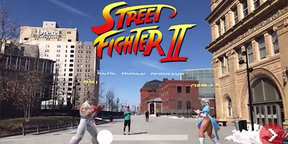 Street Fighter llega literalmente a las calles con una versión de Realidad Aumentada