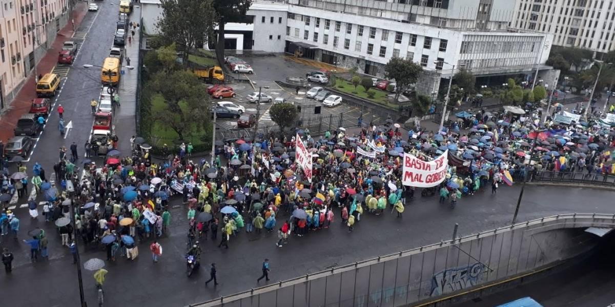Quito: Se realiza marcha #Basta en contra del Gobierno de Lenín Moreno