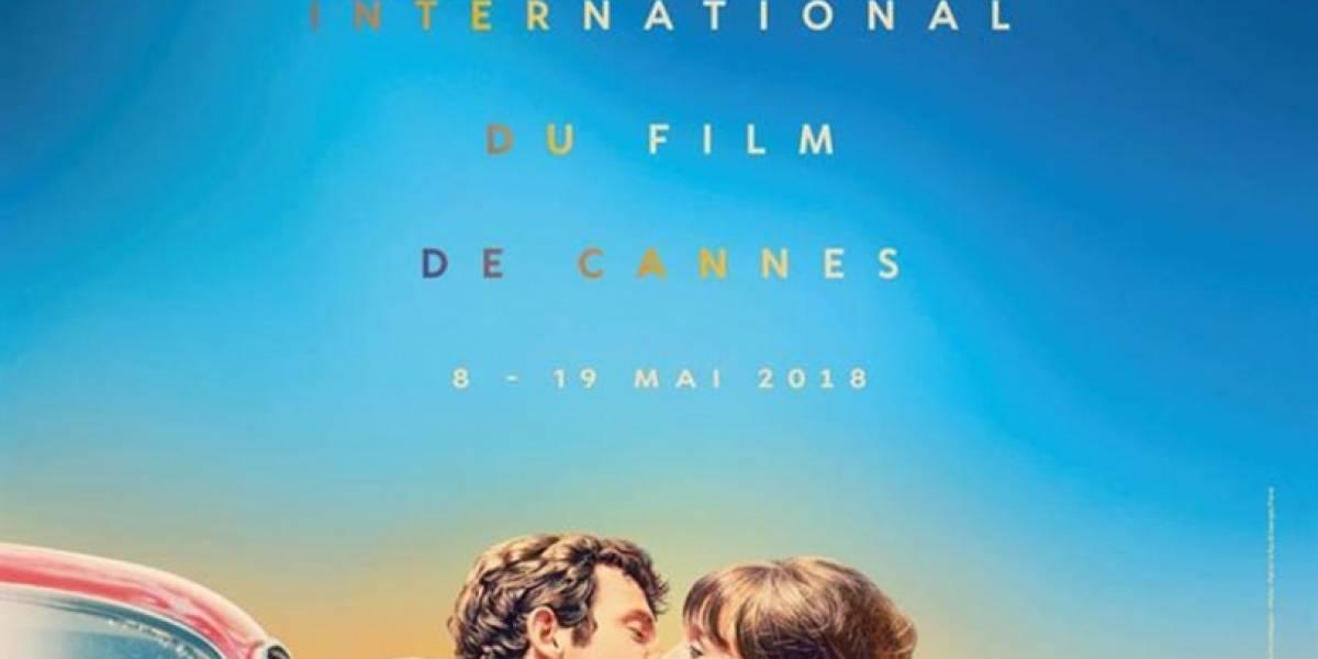 Un beso apasionado entre Belmondo y Anna Karina es el cartel de Cannes