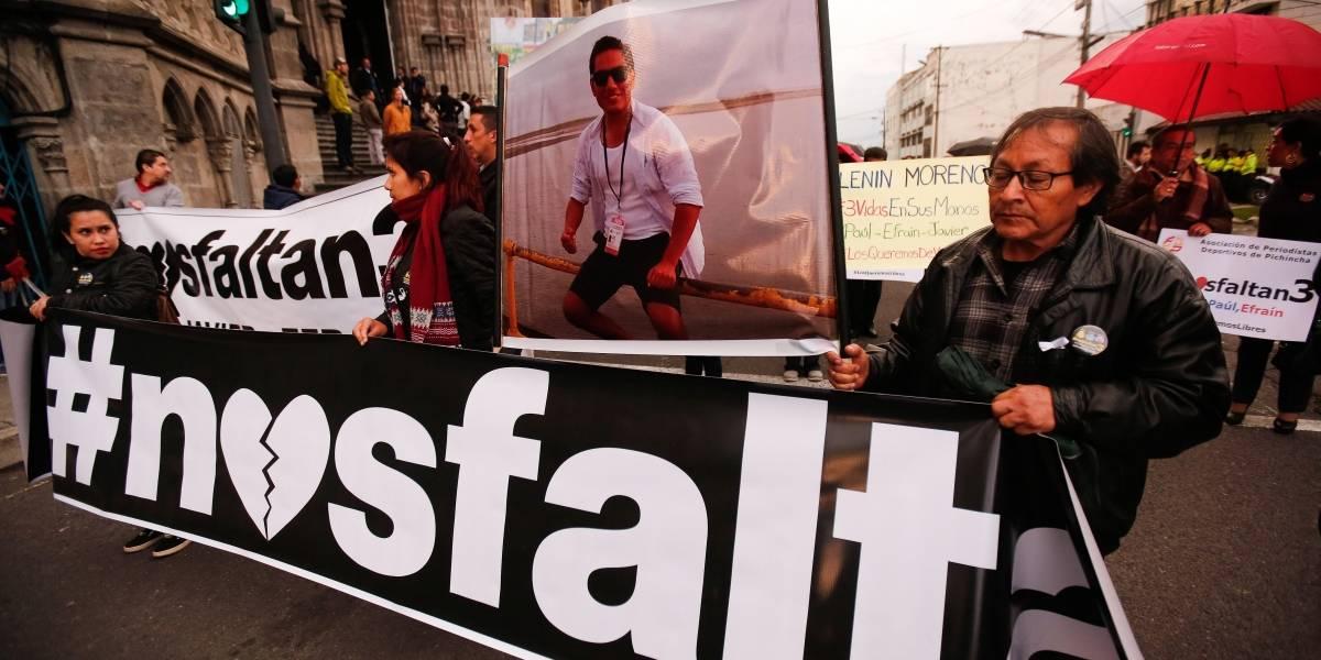 Autoridades aún verifican comunicado sobre periodistas secuestrados de Ecuador