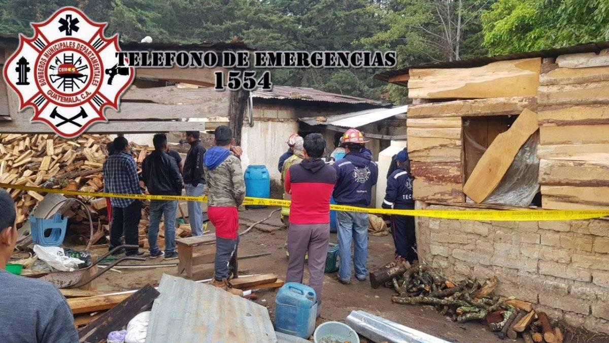 bebé muere en incendio en Chimaltenango