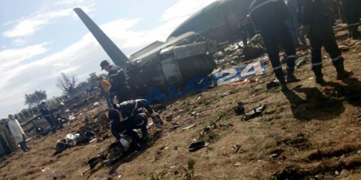 Más de 200 muertos tras estrellarse un avión militar en Argelia