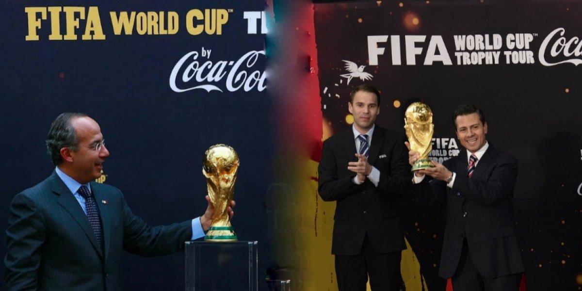 FOTOS: Los Presidentes mexicanos que han recibido el trofeo del Mundial