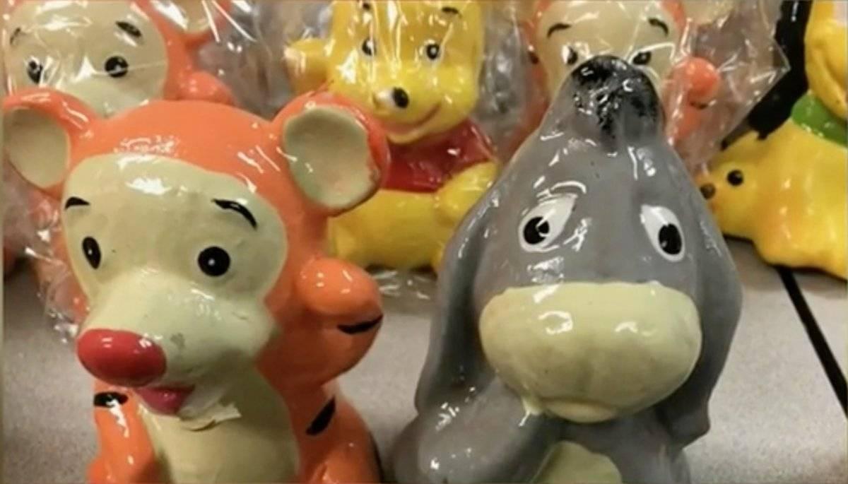 Decomiso de drogas en muñecos de Disney provenientes de México Foto: DEA