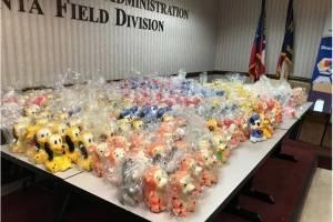 Decomiso de drogas en muñecos de Disney provenientes de México