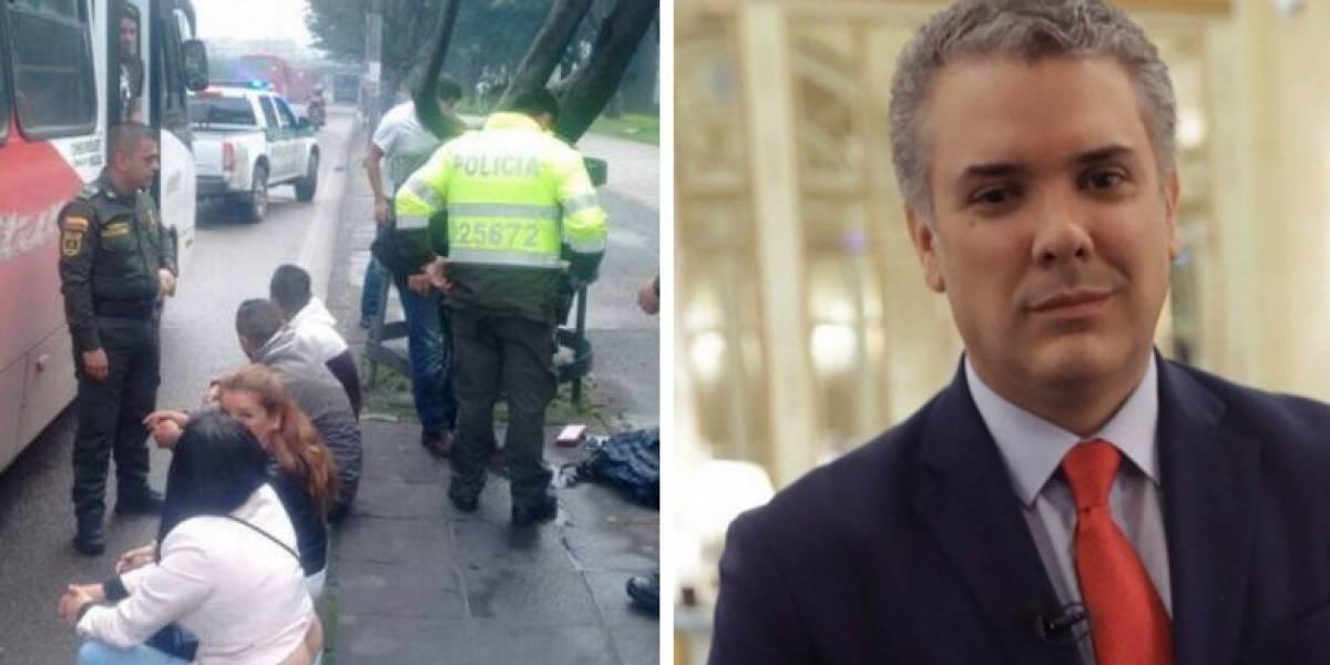 Esquema de seguridad de Iván Duque frustra atraco en Bogotá
