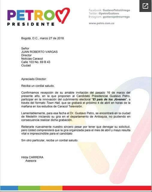 Carta Petro