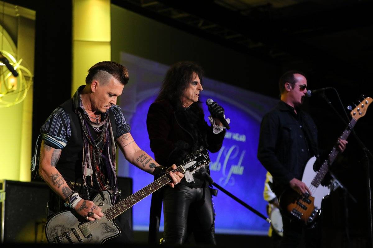 """Hollywood Vampires"", banda formada en 2015 por Alice Cooper, Johnny Depp y Joe Perry"