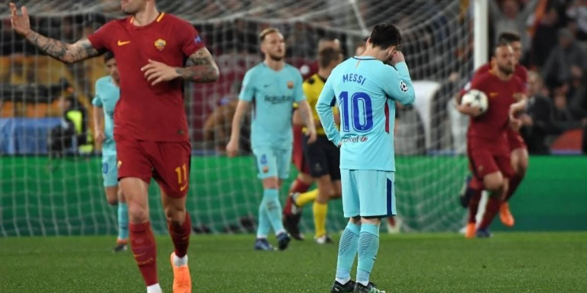 Un jugador delBarçasufrió una fracturaenla dolorosa derrota contra la Roma