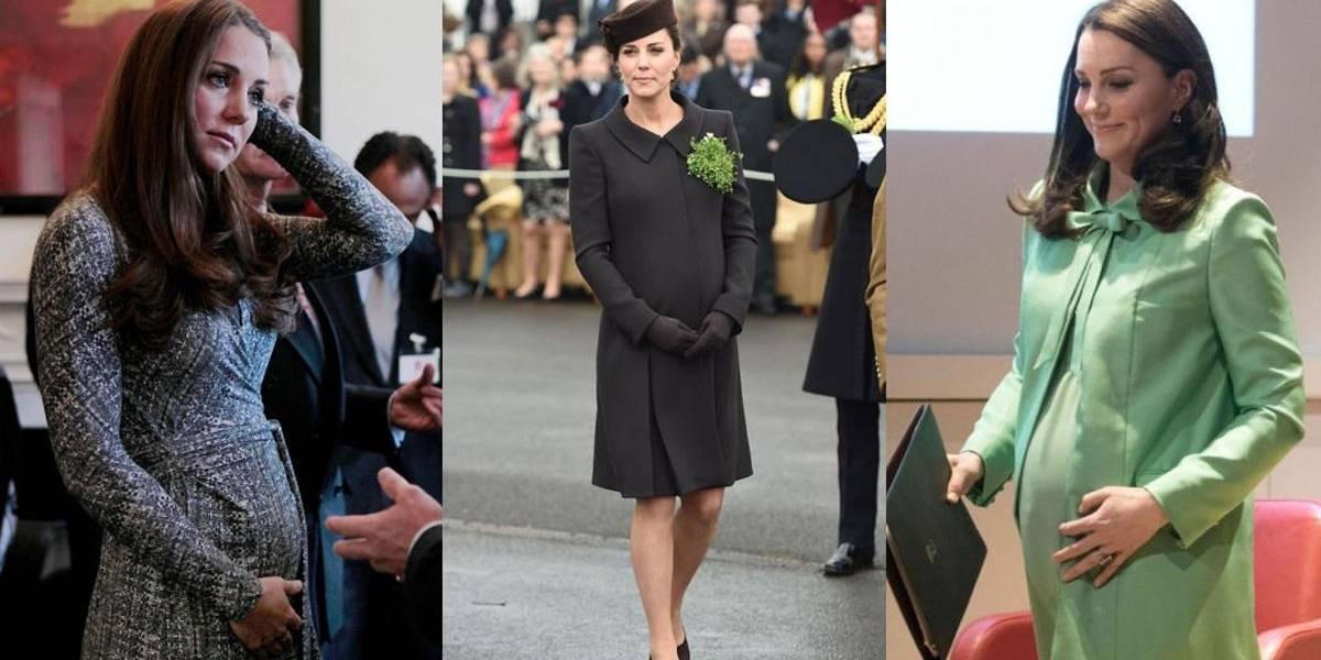 Comparamos as três gestações de Kate Middleton; vem ver