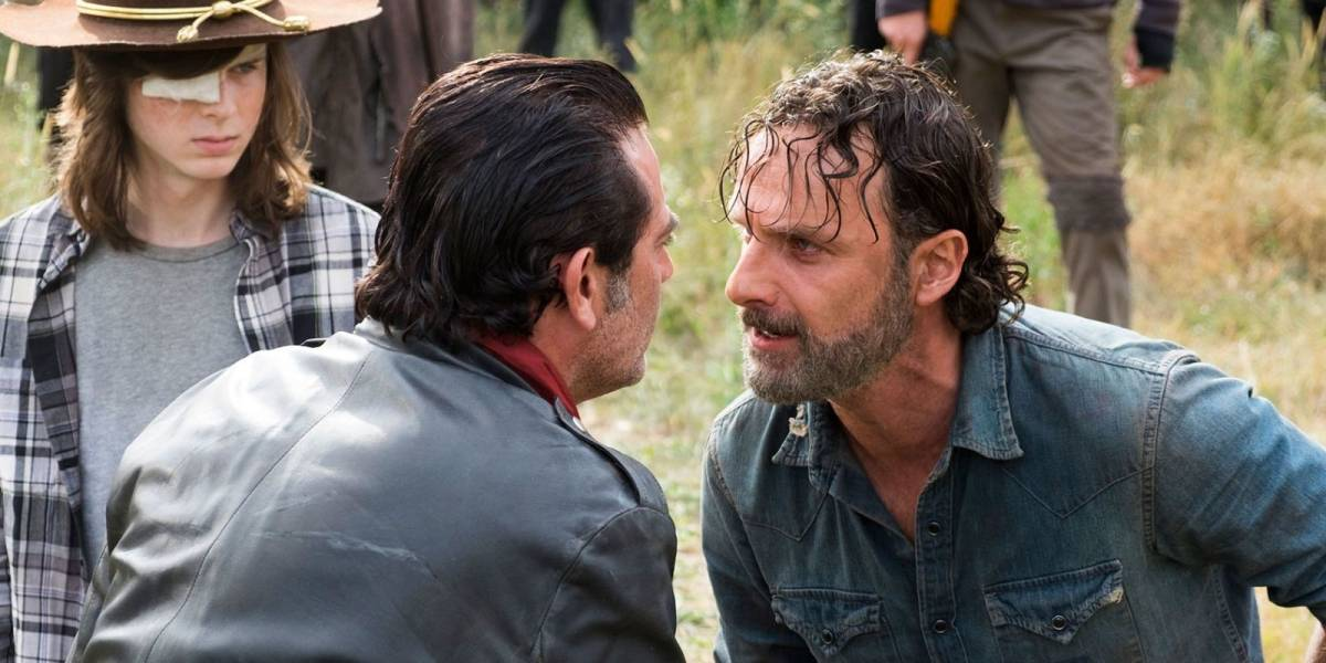 The Walking Dead: Andrew Lincoln quebrou nariz de Jeffrey Dean Morgan nas filmagens