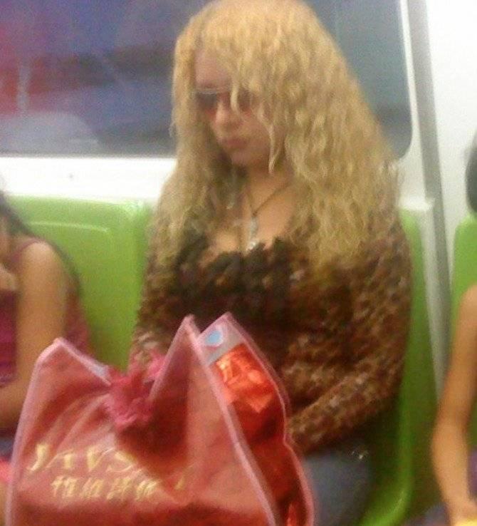 shakira en el metro