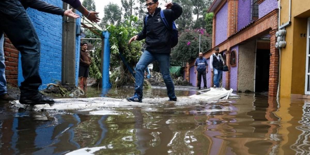 Fuertes lluvias dañan 50 viviendas en Tlalpan y Xochimilco