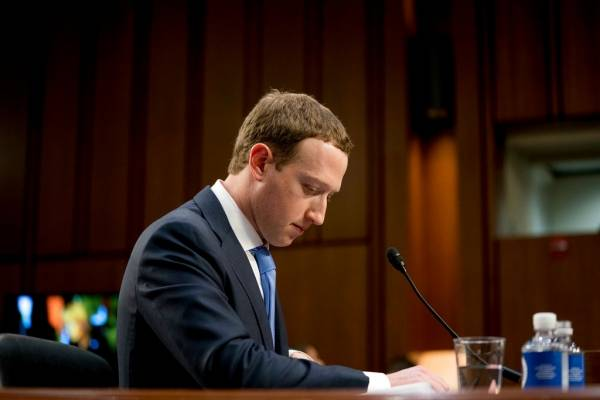 Mark Zuckerberg ante el Congreso de Estados Unidos