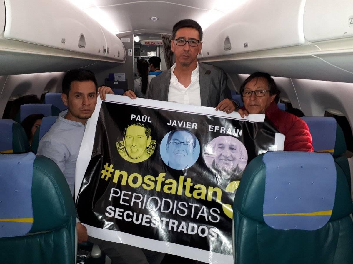 Familiares de periodistas secuestrados viajaron a Lima ante posible reunión Moreno-Santos