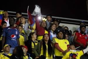 Los fanáticos de Colombia llegaron en masa a Coquimbo / Agencia Uno