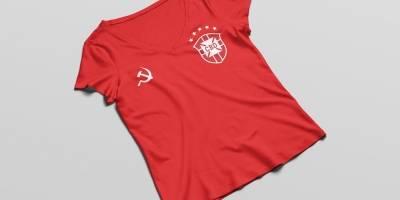 Diseñadora crea prenda para fans brasileños de izquierda