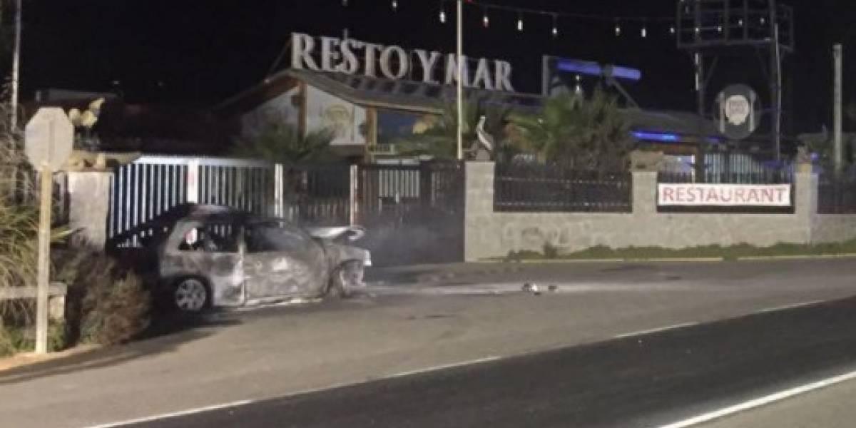 Cuatro personas mueren calcinadas tras violento accidente de tránsito en El Quisco