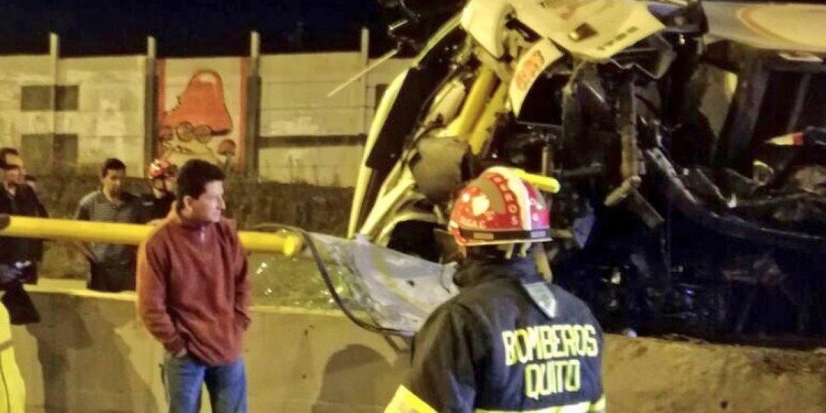 Se registró accidente de tránsito en el sector de Pifo, Quito