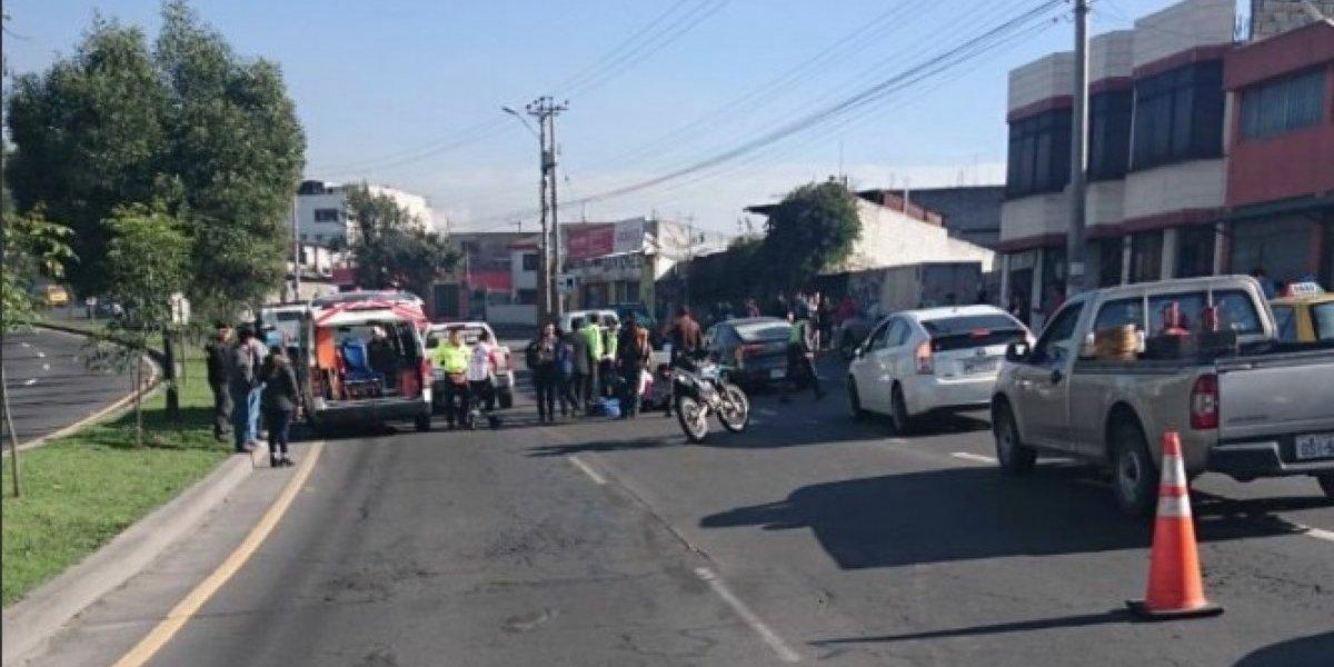 Se registró accidente de tránsito en el sector de la Loma de Puengasí, Quito