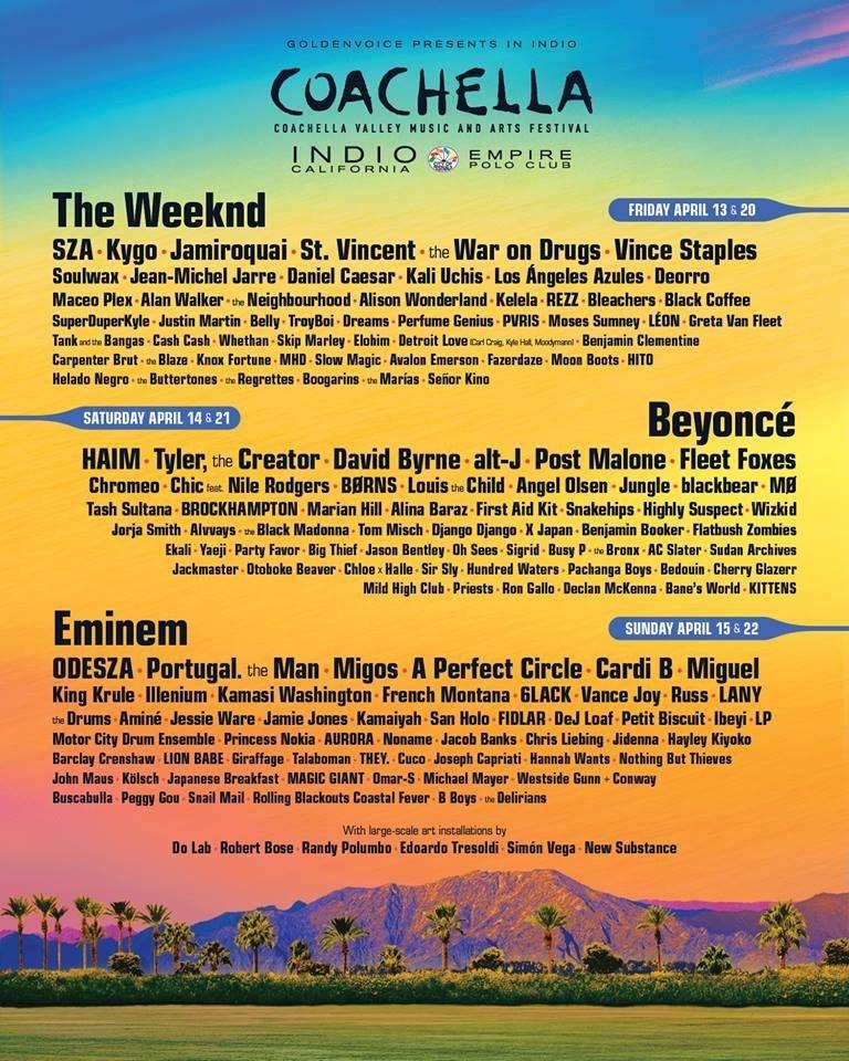 Usted podrá seguir en directo el Coachella Festival 2018
