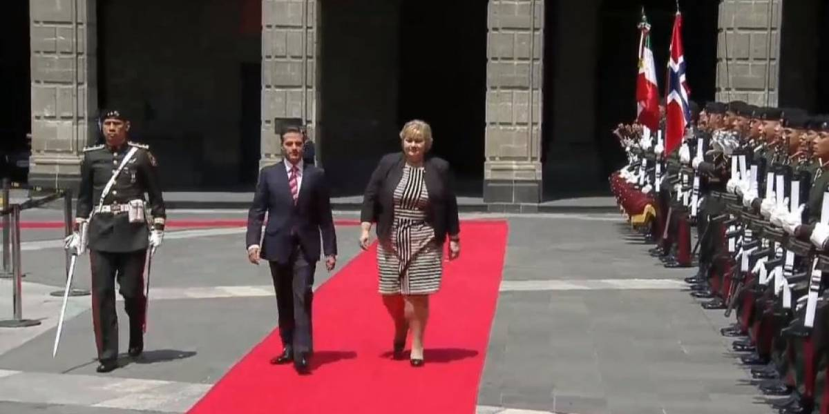 Peña Nieto recibe a Primera Ministra de Noruega