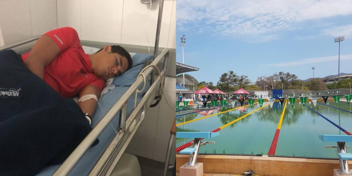 Nadadores contrajeron delicadas infecciones por piscina sucia en Juegos Bolivarianos de Santa Marta