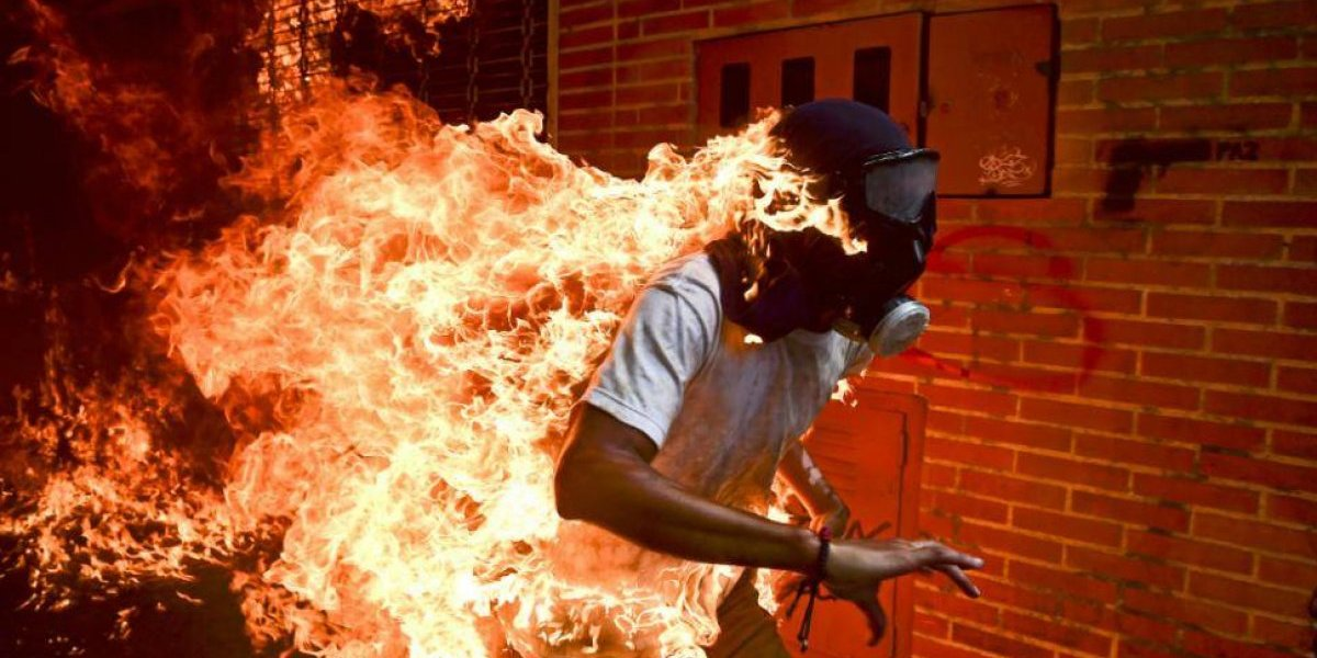 "Venezuela ""en llamas"", primer premio del World Press Photo"