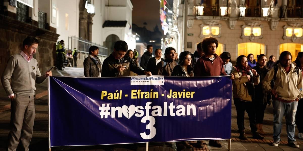 Frente Oliver Sinisterra estaría pidiendo presencia internacional para entregar cuerpos de periodistas