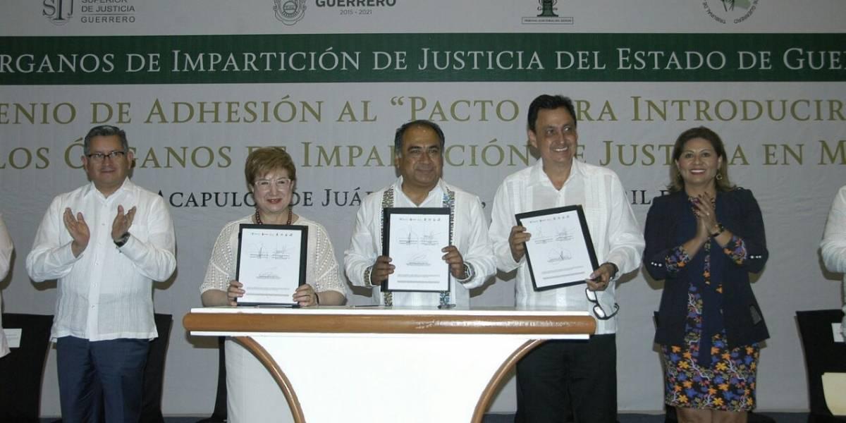 SCJN y Guerrero firman pacto para garantizar perspectiva de género