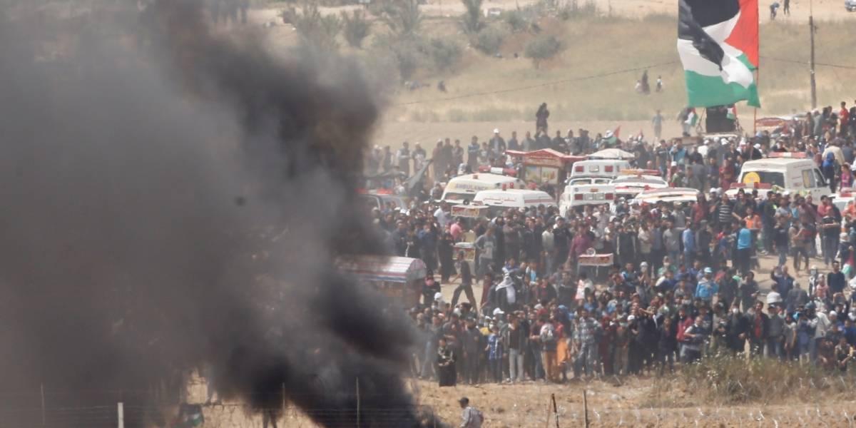 Palestinos acuden a la Franja de Gaza para nuevas protestas