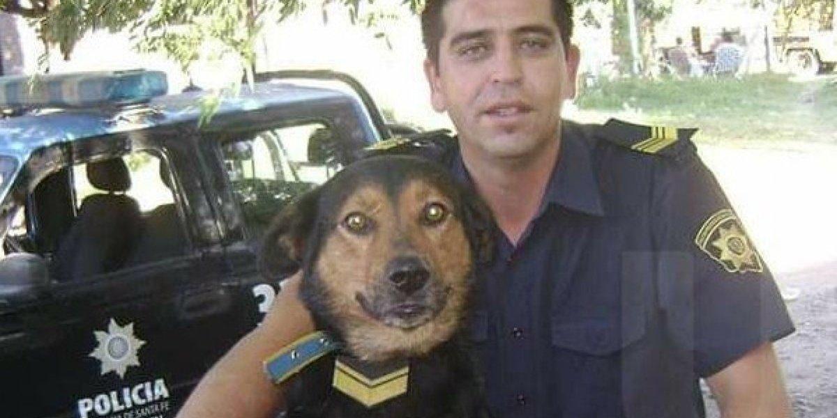 Uniformado le celebró el cumpleaños a su perro con un asado y se volvió viral en las redes sociales