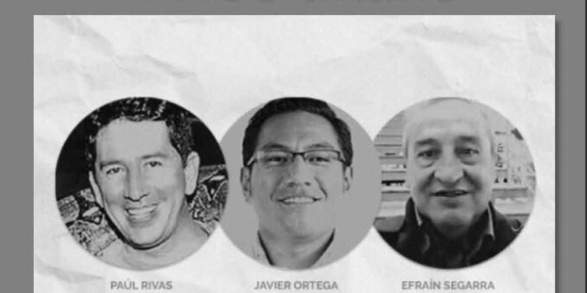 Ellos son los periodistas ecuatorianos asesinados en cautiverio